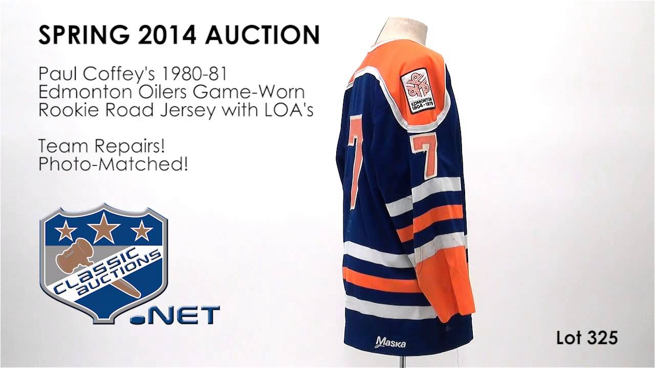 a7c5fd8aafc Paul Coffey's 1980-81 Edmonton Oilers Game-Worn Rookie Road Jersey with  LOA's