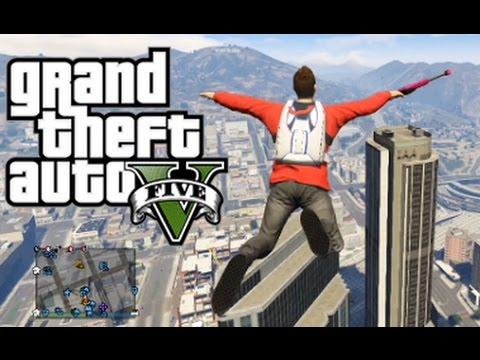 GTA 5 Online - Funny Moments! (Parachuting Noobs, Car Meet, and Titan Tricks!)