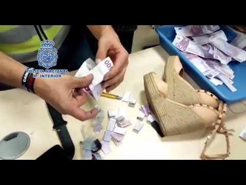 La Policía Nacional interviene 180.000 euros ocultos en cuñas de zapatos de mujer