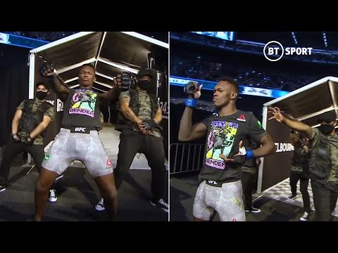 Israel Adesanya shows off incredible dance moves in legendary walkout at UFC 243!
