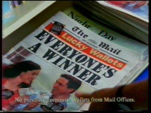 Mail On Sunday (newspaper) advert 1998