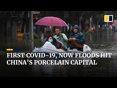 Double trouble for China's porcelain capital as Yangtze River floods add to pandemic woes