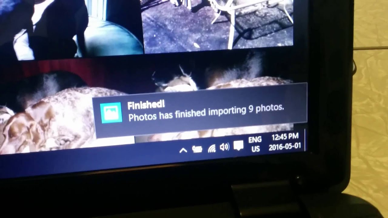 Windows 10 - importing pictures from an SD card