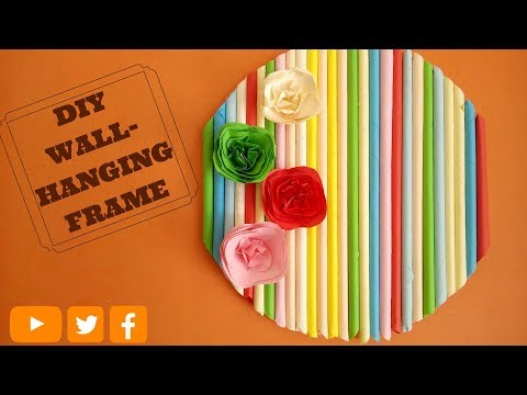 DIY Wall Decor Frame || DIY Wall Hanging Craft Ideas
