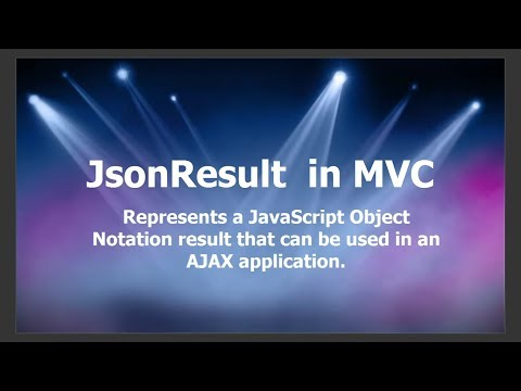 JsonResult in MVC