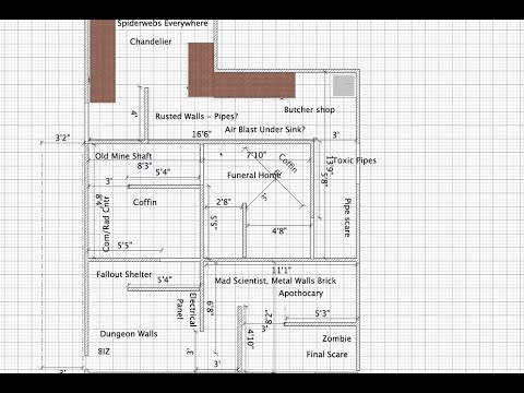 How to Build a Haunted House in Your Garage Part 1 YouTube – Halloween Haunted House Floor Plans