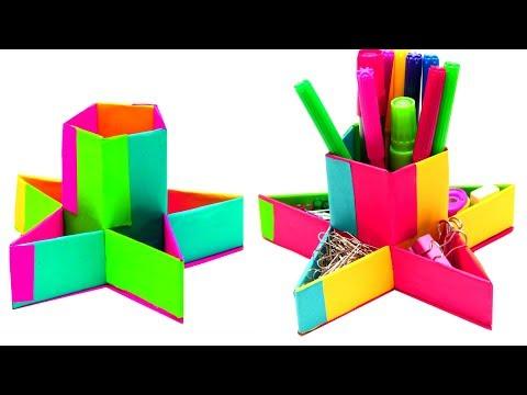 DIY Paper Pen Holder | Pen Holder From Paper Craft Ideas | EMMA DIY #80