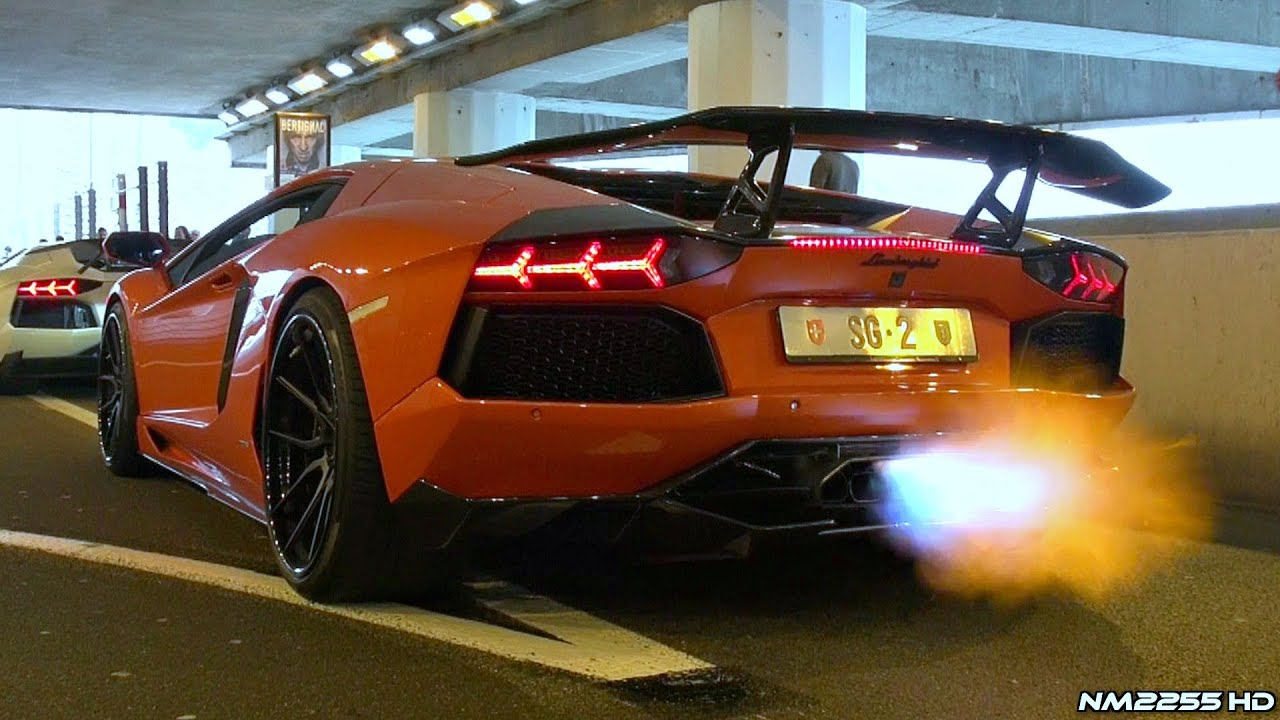 DMC Lamborghini Aventador Spitting FLAMES!!   YouTube