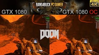 GTX 1080 Stock Vs Overclocked Doom 4K Vulkan Performance | i7 5960X 4.5GHz