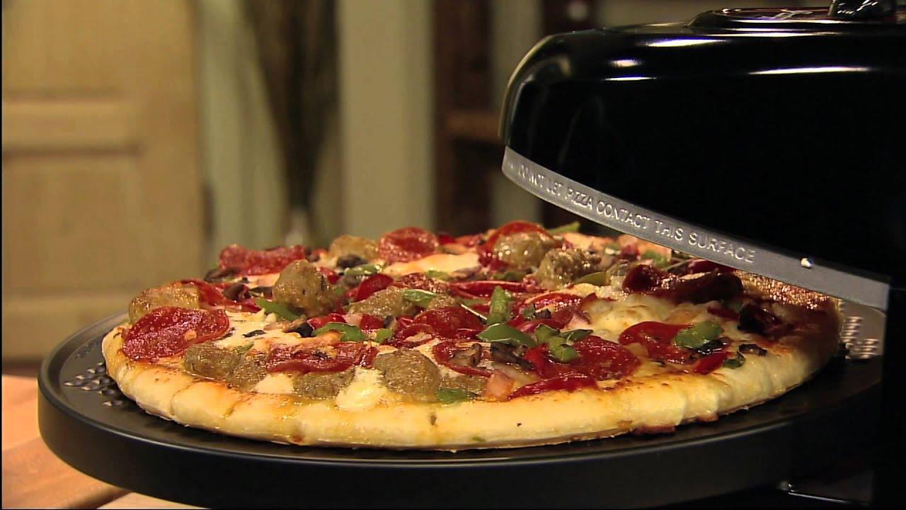 How To Make A Frozen Pizza Presto Pizzazz Plus Rotating Pizza Oven Youtube