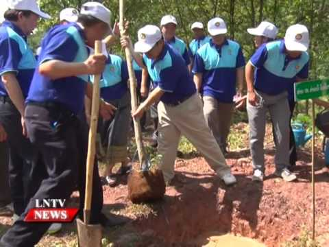 Lao NEWS on LNTV: EDL-Gen organises tree planting and fish releasing activities.7/6/2016