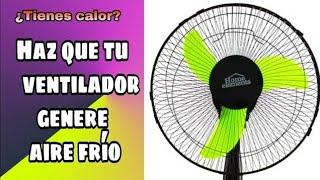 🤓 VENTILADOR con HIELO / como hacer que el VENTILADOR TIRE AIRE FRIO