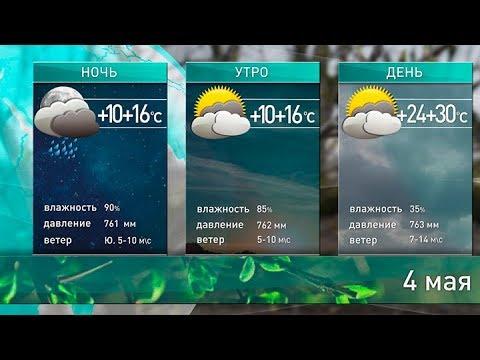 Прогноз погоды на 4 мая