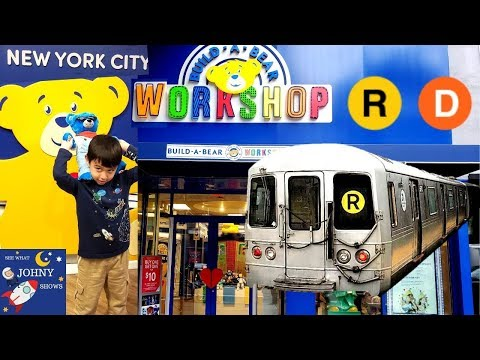 Johny's MTA Subway Train Ride To 34 St Herald Square Build A Bear Workshop