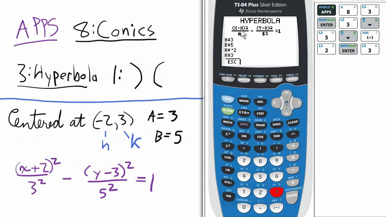 Conic sections hyperbola horizontal transverse axis app ti 84 conic sections hyperbola horizontal transverse axis app ti 84 calculator falaconquin