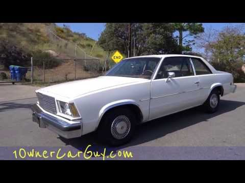 Chevrolet Malibu Classic Coupe 1979 1 Owner 5.0L 305 V8 Small Block Chevelle Nova Muscle Review