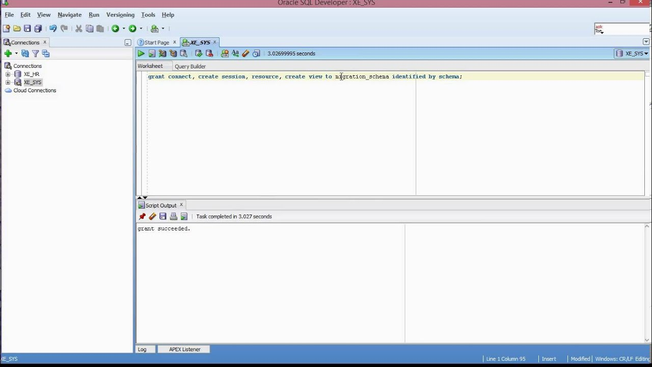 Oracle sql developer series lesson 2 setup schemarepos for db oracle sql developer series lesson 2 setup schemarepos for db objects capture in db migrations youtube ccuart Image collections