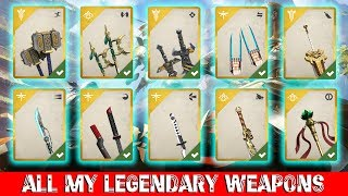 Shadow Fight 3 Best Legendary WEAPON For You? (Update) || All my Legendary weapons