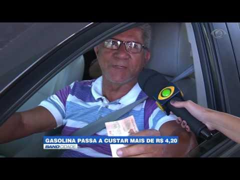 """Band Cidade - """"Gasolina passa a custar mais de R$ 4,20"""""""