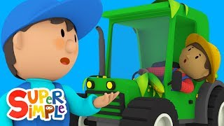 Tracy's Tractor Creates A Mess! | Carl's Car Wash | Cartoons For Kids