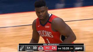New Orleans Pelicans vs San Antonio Spurs 1st Half Highlights   January 22, 2019-20 NBA Season