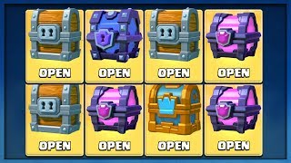 OPENING ALL MY GOOD CHESTS in Clash Royale! :: SUPER MAGICAL CHEST OPENING!