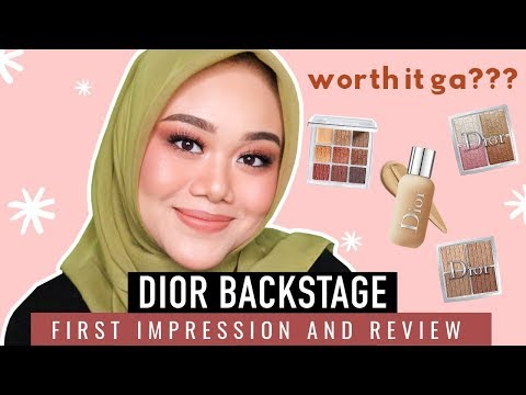 REVIEW DIOR BACKSTAGE PALETTE + FOUNDATION!!!