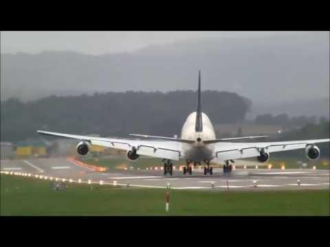(Live ATC) Saudi Arab Government Boeing 747SP landing runway 28 at Zürich-Kloten