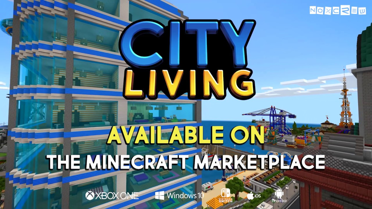 Minecraft City Living
