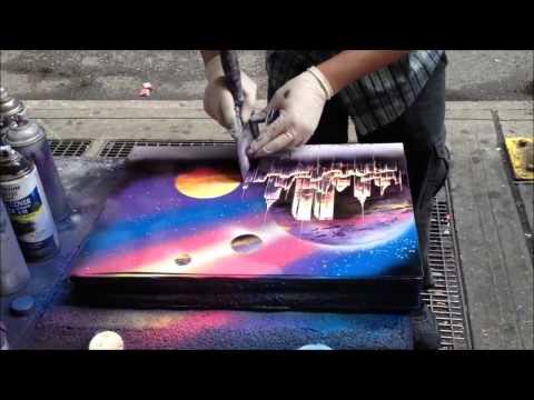 Amazingly Fast Spray Paint Artist
