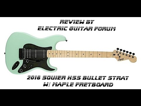 review awesome cheap guitar squier hss bullet strat surf pearl maple fretboard fender. Black Bedroom Furniture Sets. Home Design Ideas