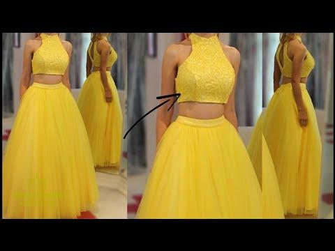 DIy:halter Neck Top/crop Top/blouse Top/lahenga Blouse/stylish Crop Top/diy Top/cutting/tutorial 👍