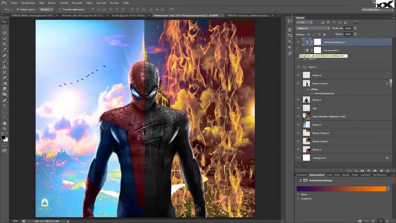 spider man good vs bad hd speed art youtube