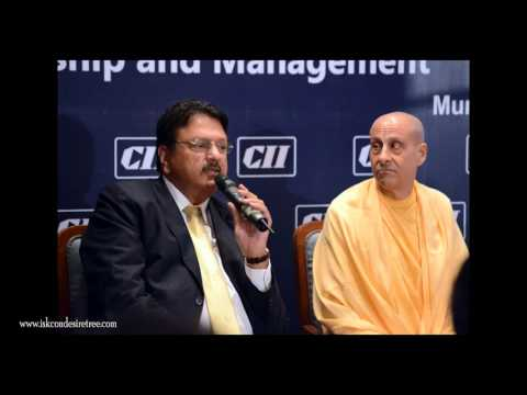 News - Radhanath Swami Addresses the Confederation Of Indian Industry