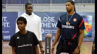 Tristan Thompson & Anthony Bennett Samsung at the Galaxy S5 event