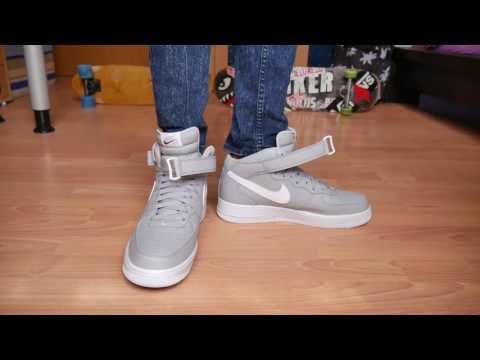Nike Air Force 1 Mid WOLF GREY - On Feet