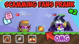 Scamming Fans Prank Pt.2 ( Got Scammed Rip Ghc ) | GrowTopia