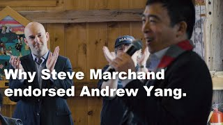 Steve Marchand explains why he endorsed Andrew Yang so early and his take on the Yang Climate Plan.