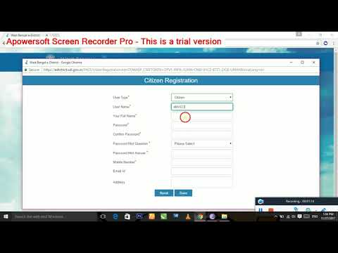 How to registeration to apply S.D.O domicile/B.D.O income certificate online