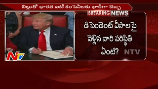 shock to h1b visa donald trump new restrictions to it companies    ntv