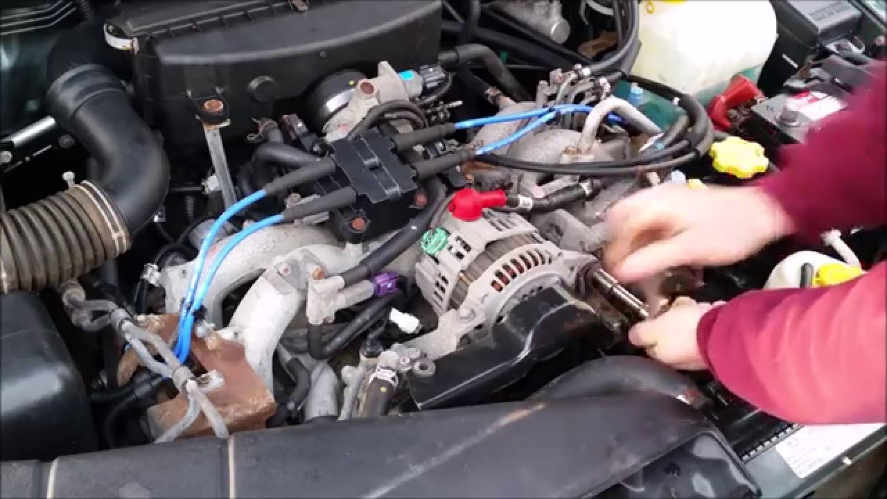 how to replace an alternator on a subaru  subaru legacy alternator diagram #15