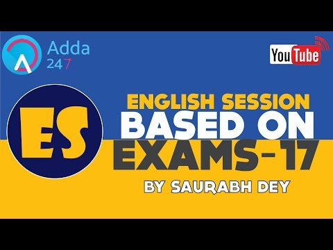 SESSION ON ENGLISH GRAMMAR FOR COMPETITIVE EXAM - NOUNS