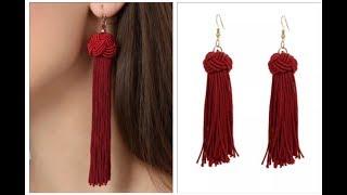 How to make designer tassel earrings easy ||DIY tassels in 5 minutes