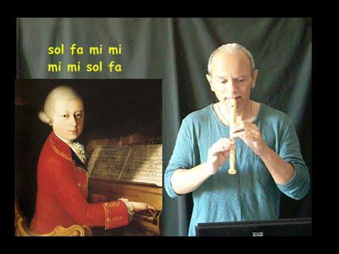 Aria Italiana di Mozart (facile e con spartito)