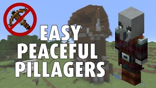 The EASIEST way to PACIFY a PILLAGER - Minecraft 1.17