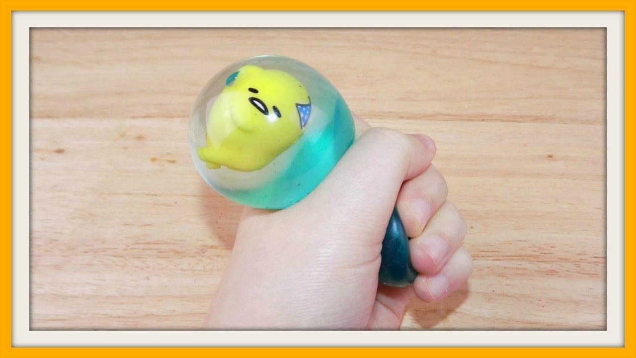 Squishy Water Egg : Gudetama Egg Water Ball Squishy - YouTube