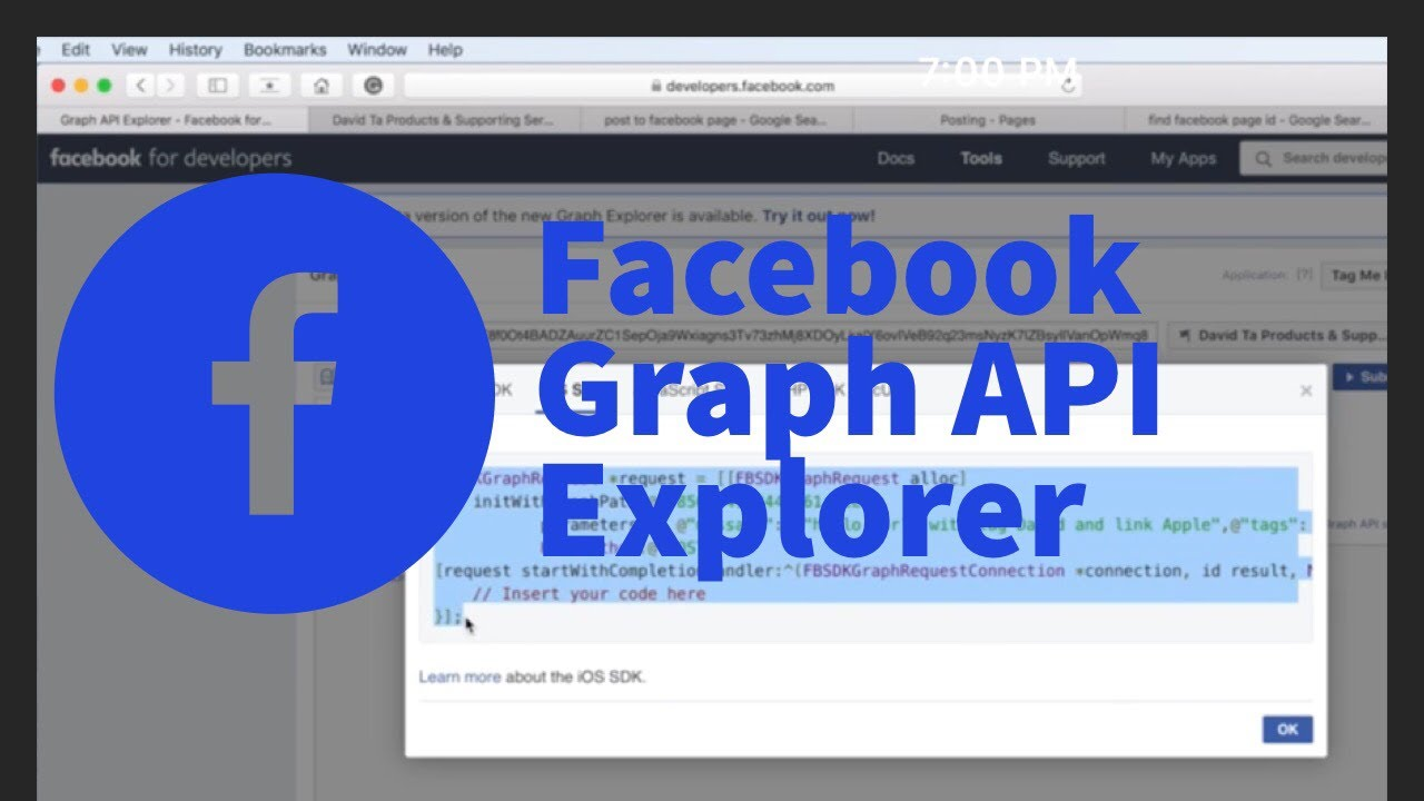 Using Graph API Explorer tool of Facebook to post to a page