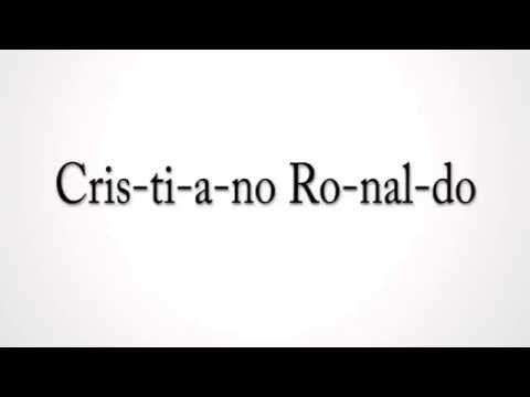 How to pronounce Cristiano Ronaldo in portuguese