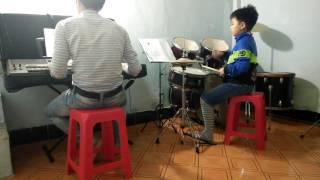 Niệm khúc cuối_ bé Thiện Đạo (3tuổi) học trống Jazz tại trung tâm âm nhạc Maria