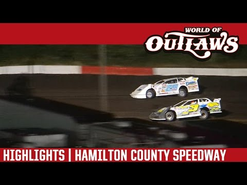 World of Outlaws Craftsman Late Models Hamilton County Speedway July 7th, 2016 | HIGHLIGHTS
